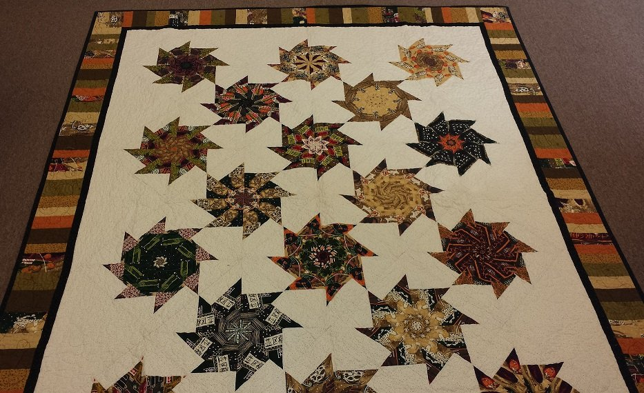 Image of: Kaleidoscope Quilt Pattern Simple