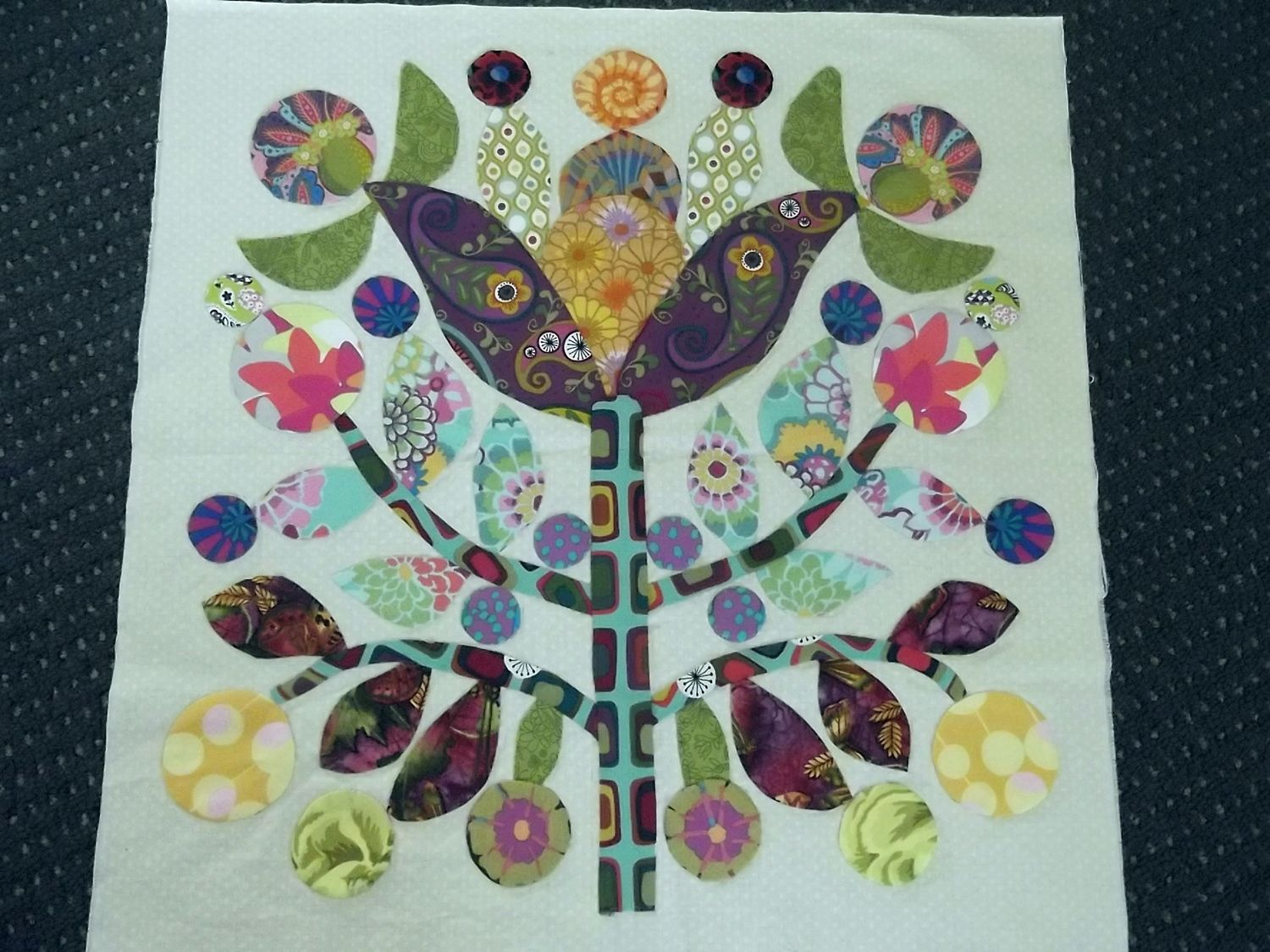 Image of: Lollipop Tree Quilt Patterns
