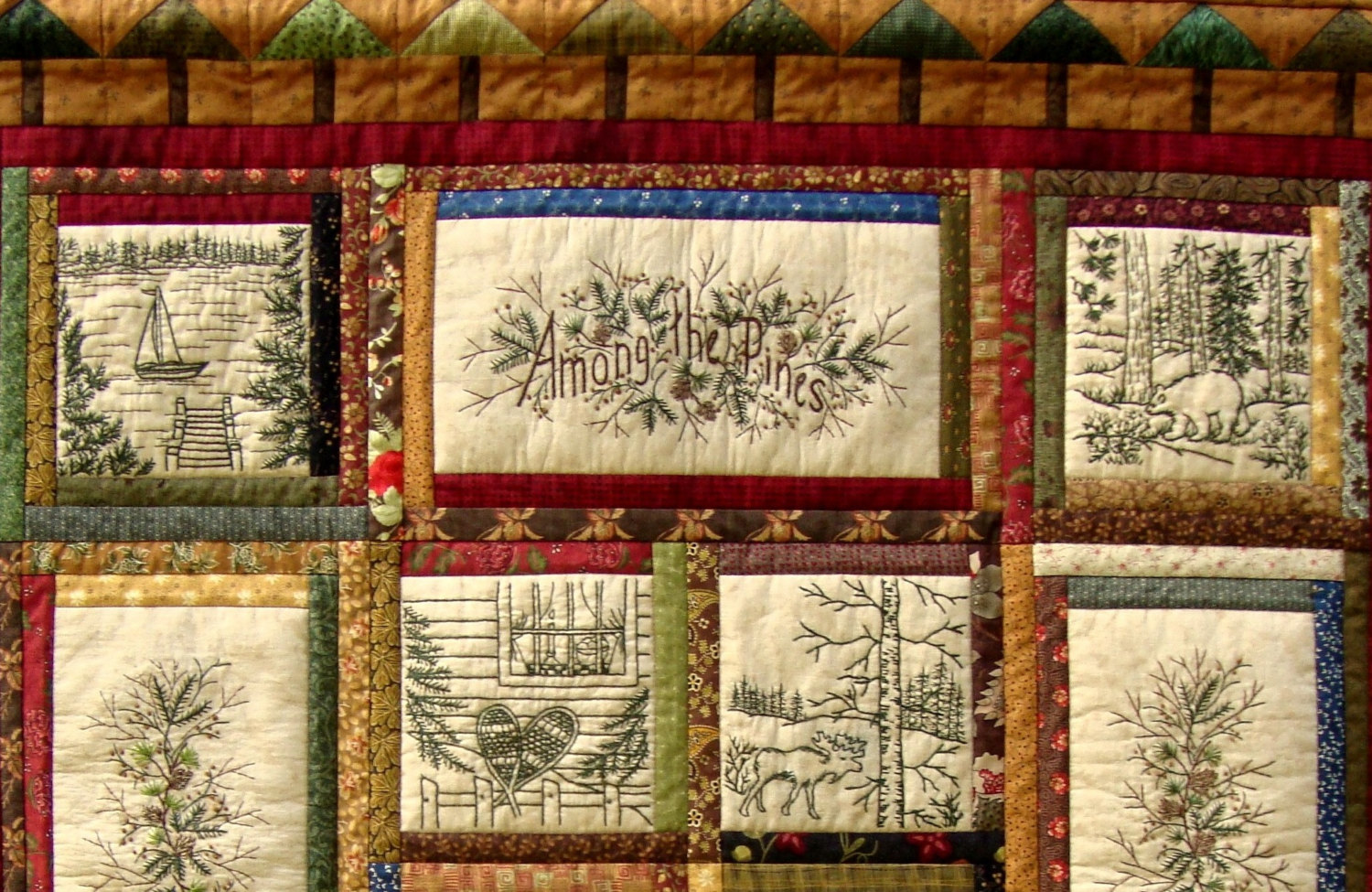 Picture of: Mechine Embroidery Quilt Patterns