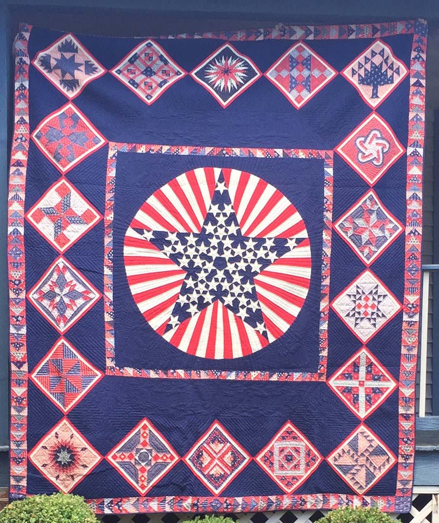 Image of: Mini Patriotic Quilt Patterns