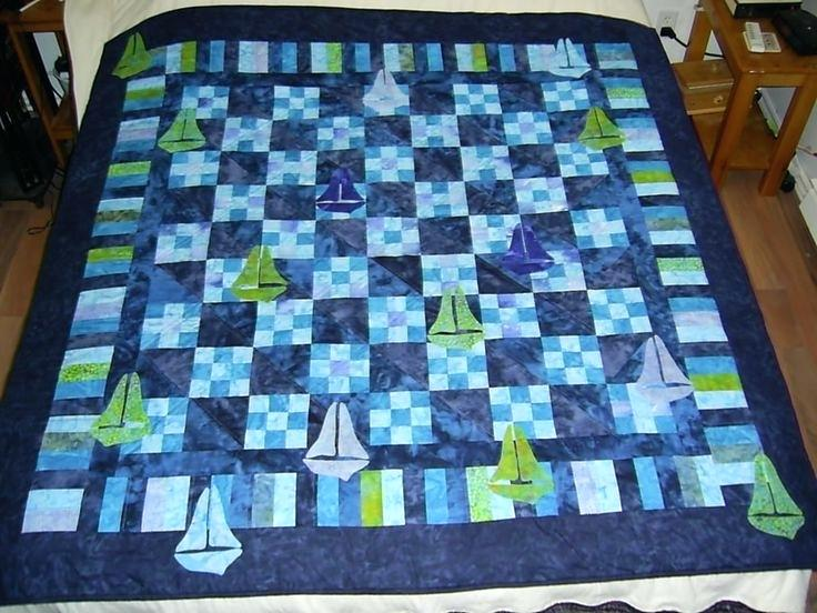 Image of: Modern Baby Boy Quilt Kits