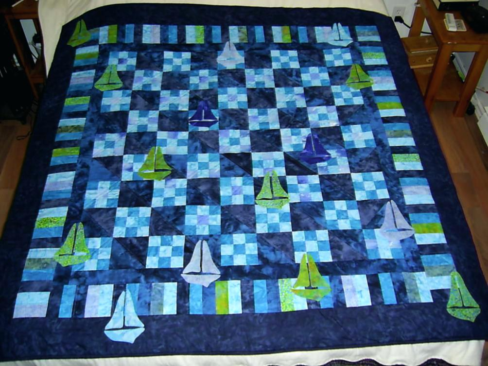 Image of: Modern Baby Boy Quilt Patterns