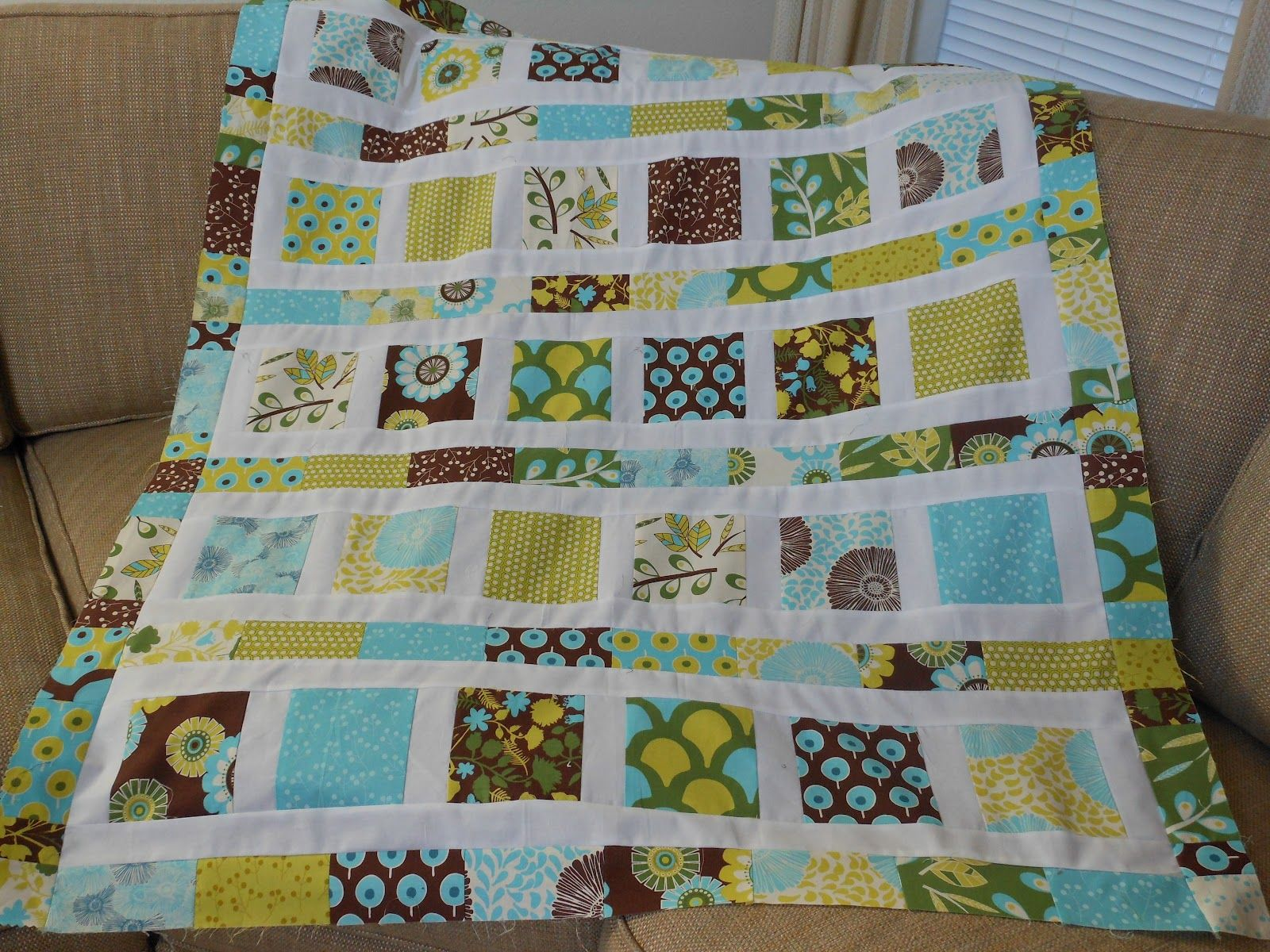 Image of: Modern Baby Quilt Ideas