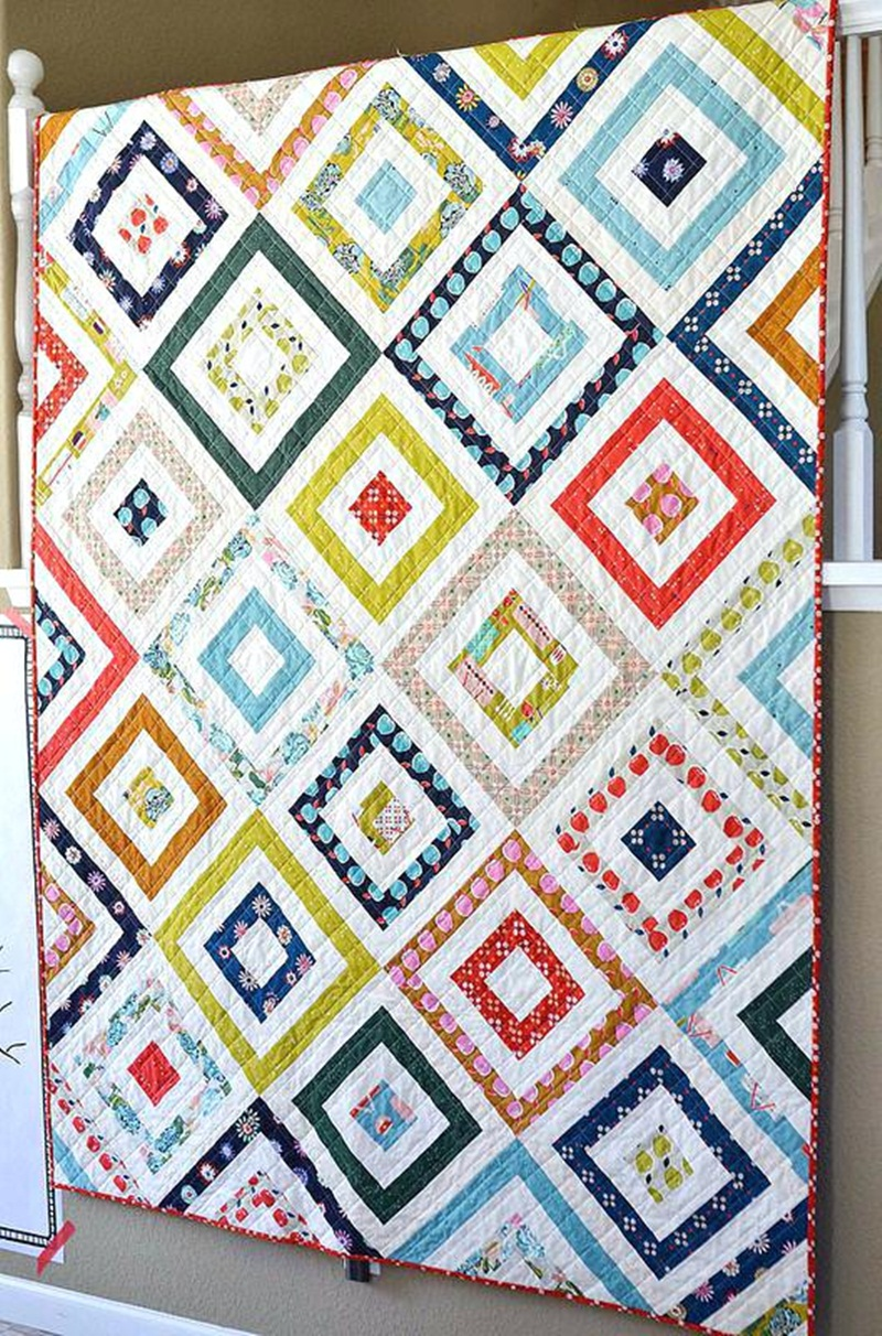 Image of: Modern Baby Quilt Patterns Ideas