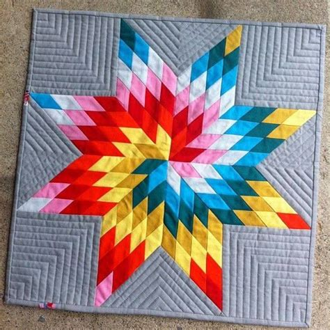 Image of: Multicolor Lone Star Quilt Pattern