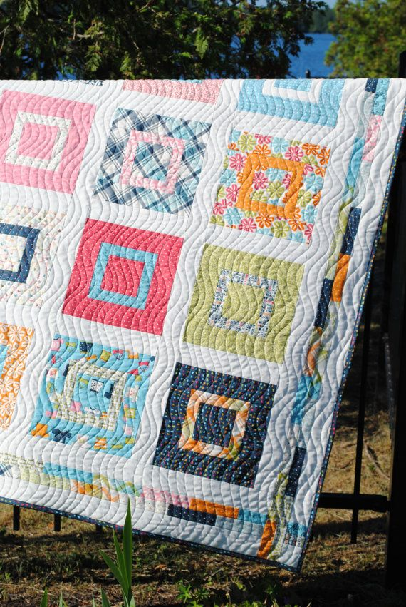 Image of: Narrow Fat Quarter Baby Quilt