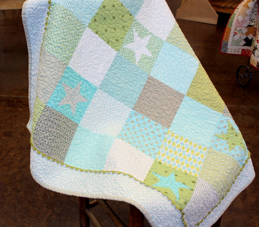 Image of: Natural Baby Boy Quilt Kits