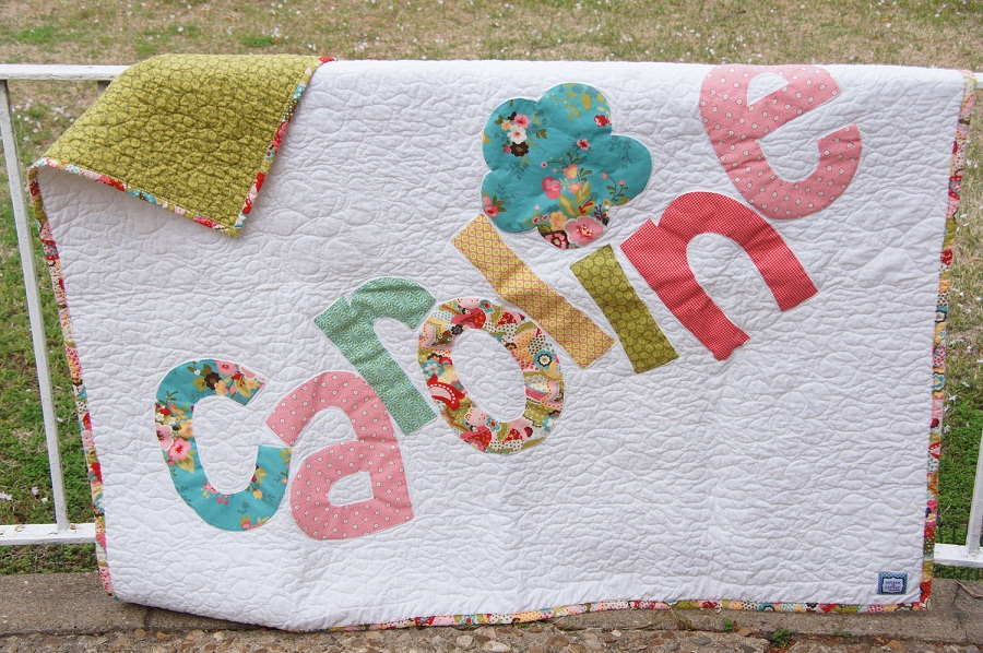 Picture of: Natural Personalized Baby Quilts