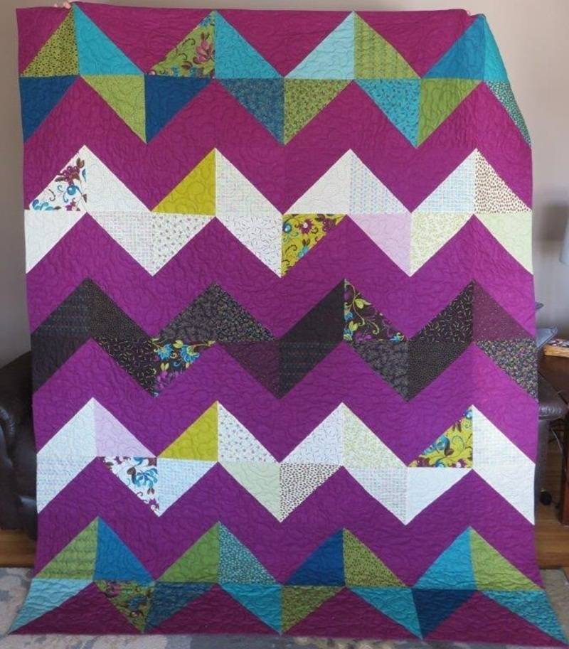 Image of: New Chevron Quilt Pattern