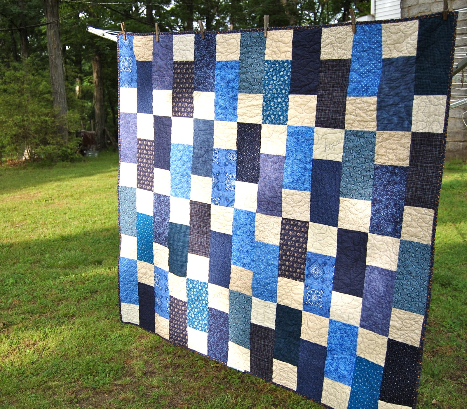 Image of: New Quilt Patterns for Men