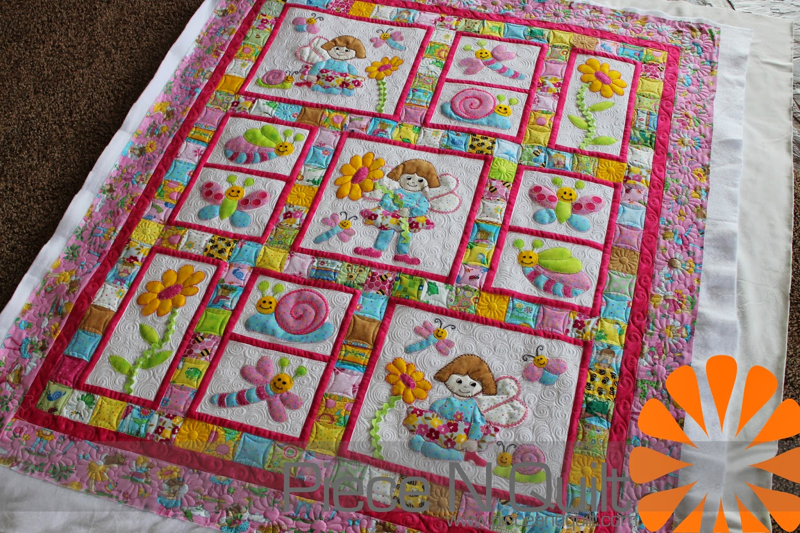 Image of: Nice Baby Girl Quilt Patterns