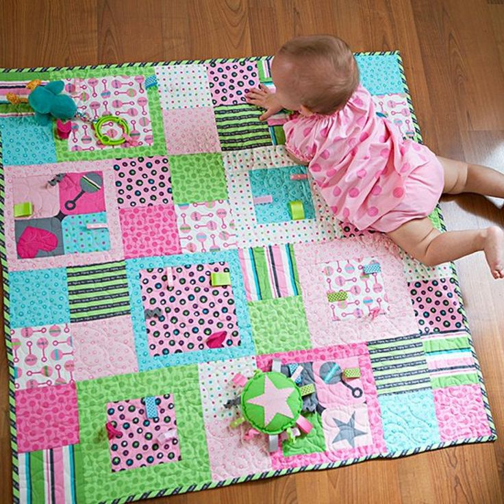 Image of: Nice Fat Quarter Baby Quilt