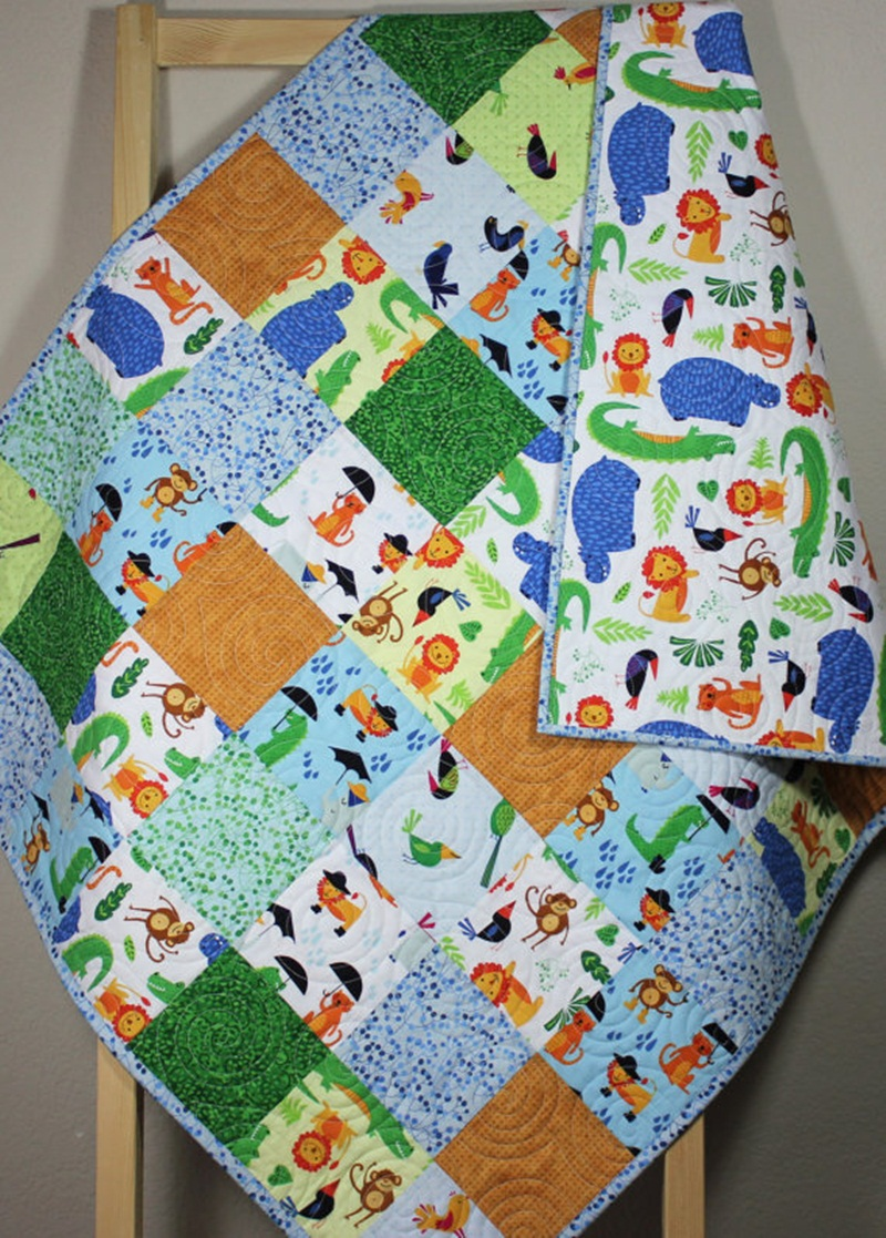 Picture of: Nice Homemade Baby Quilts