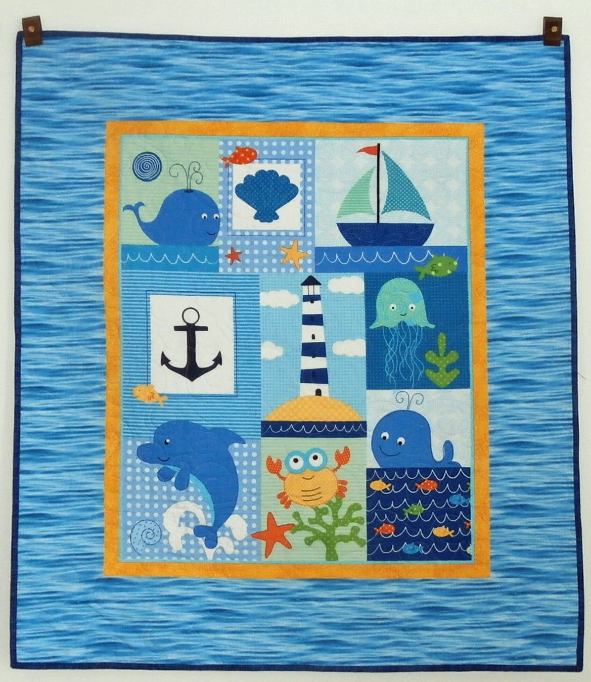 Picture of: Ocean Baby Quilt Panels