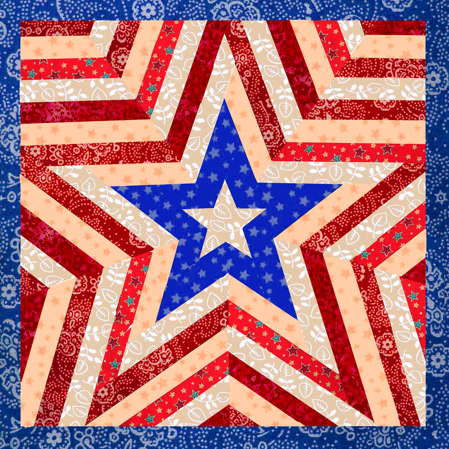 Image of: One Star Patriotic Quilt Patterns