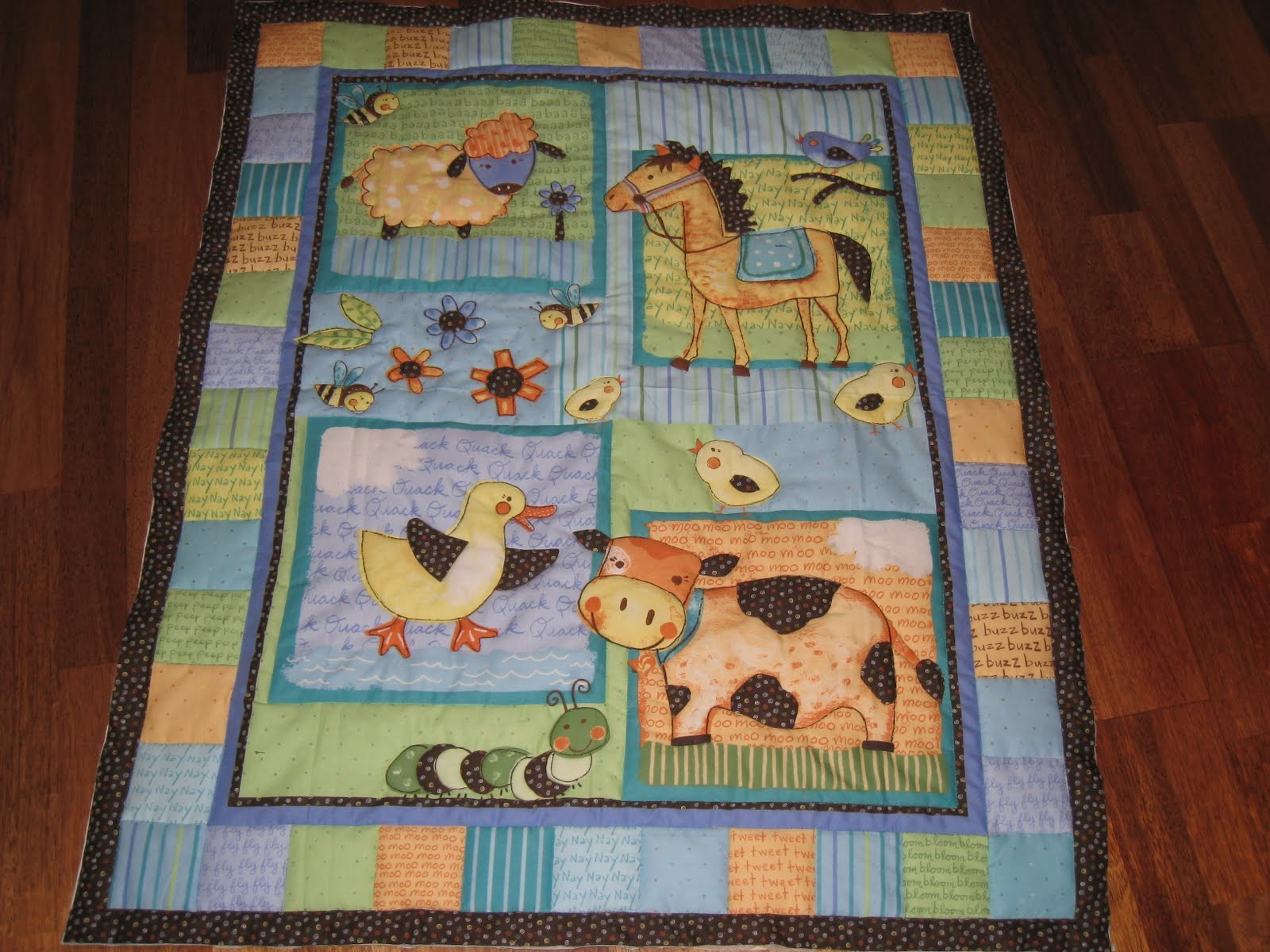 Picture of: Panel Quilt Patterns Baby