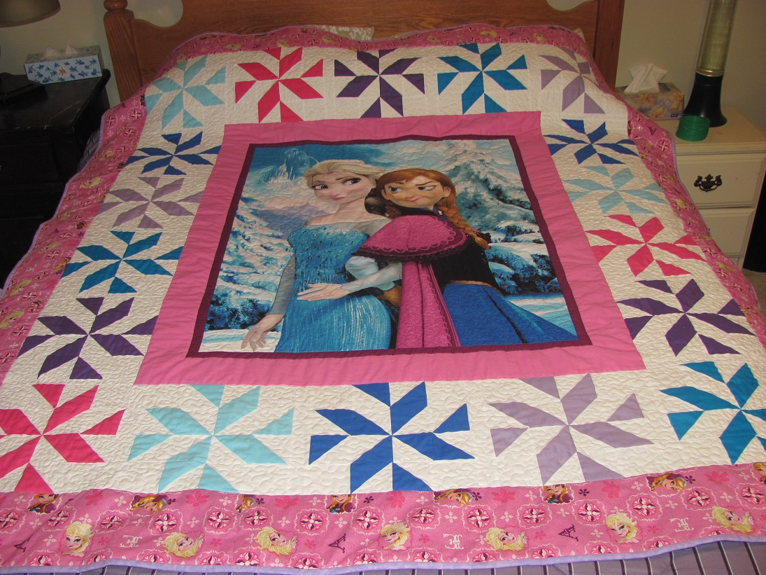 Image of: Panel Quilt Patterns Girl