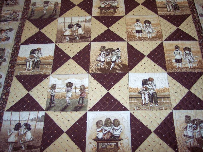 Image of: Panel Quilt Patterns Great