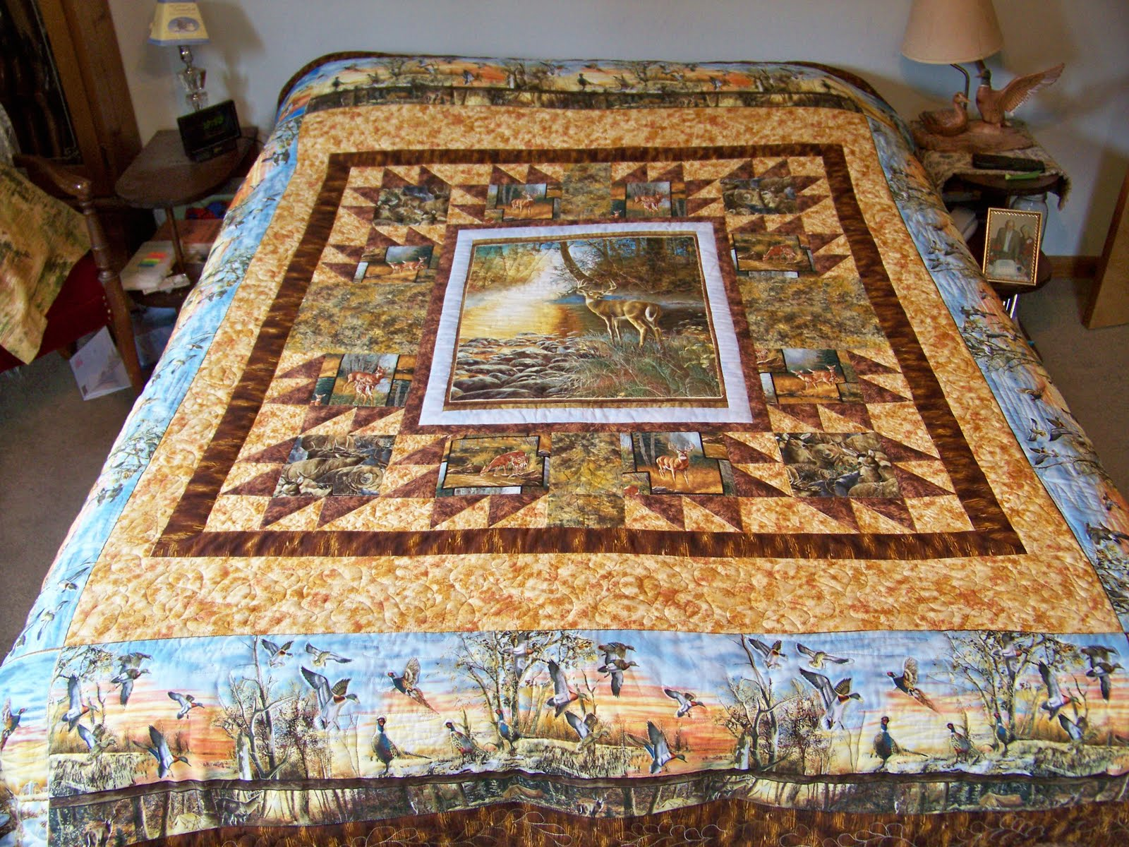 Image of: Panel Quilt Patterns King Size