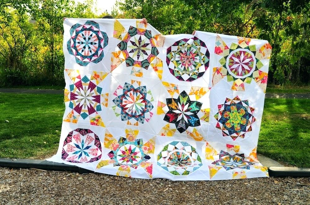 Image of: Paper Pieced Quilt Patterns Large