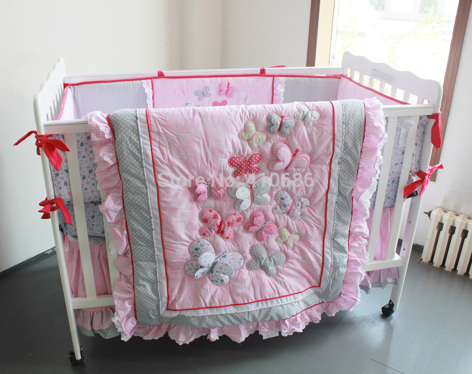 Image of: Pink Baby Girl Quilt Kits
