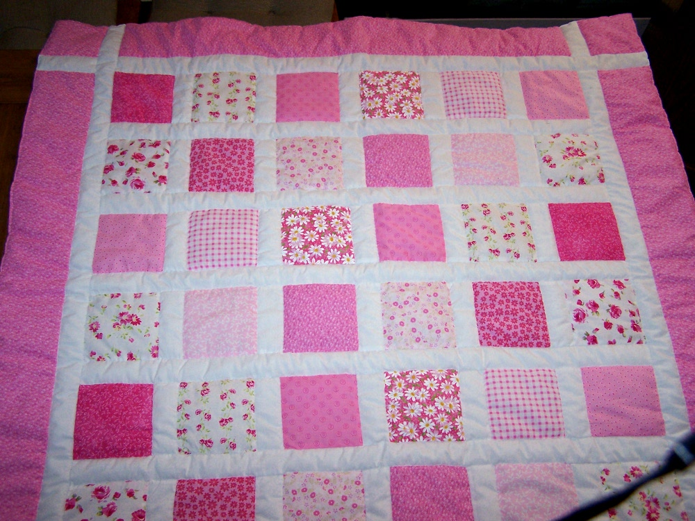 Pink Baby Patchwork Quilt