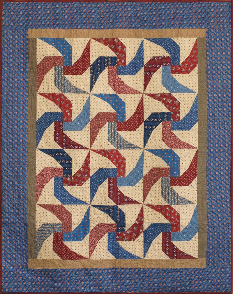 Image of: Pinwheel Quilt Pattern Blue