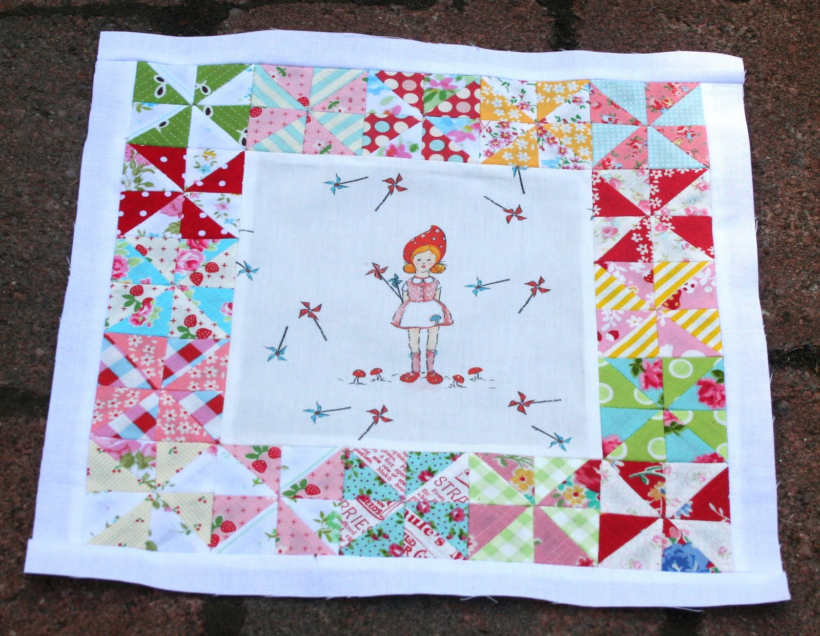 Image of: Pinwheel Quilt Pattern Girls