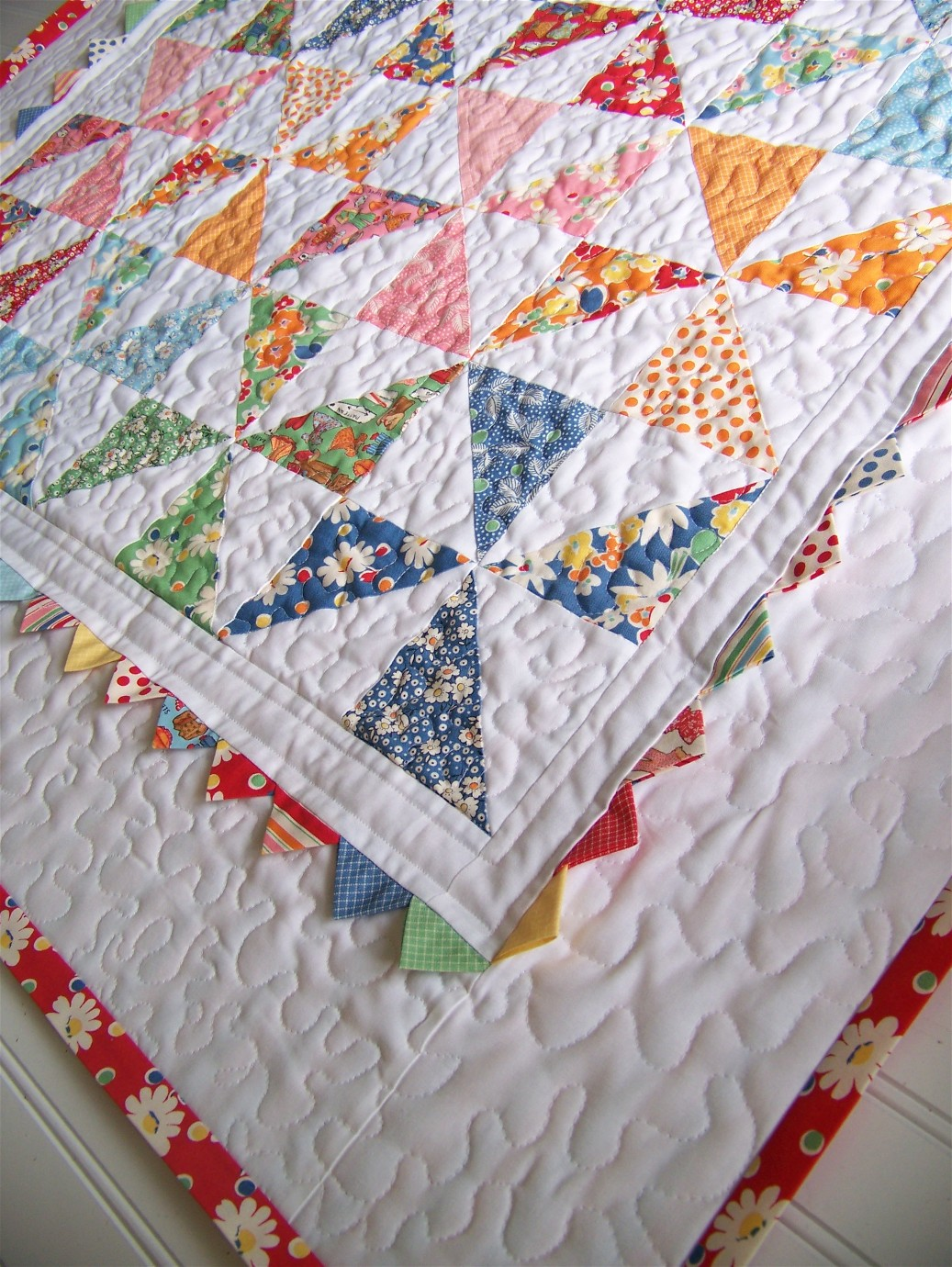 Image of: Pinwheel Quilt Pattern White