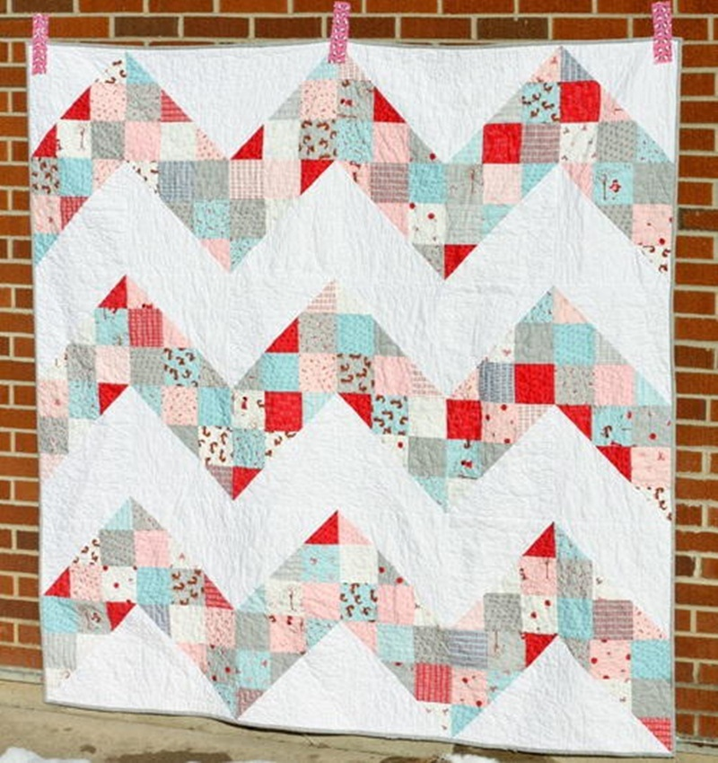 Pretty Chevron Quilt Pattern