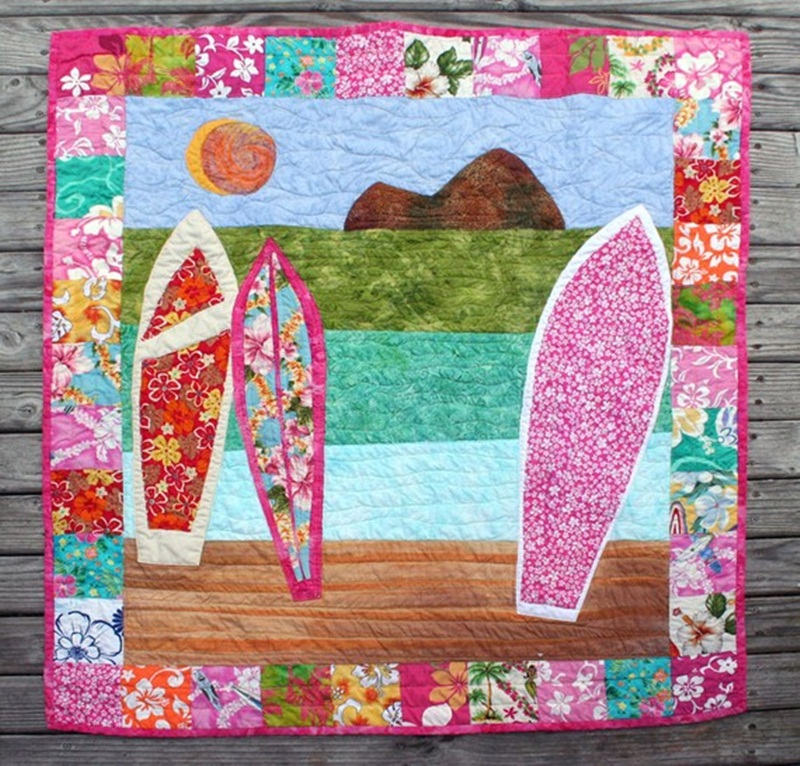 Image of: Pretty Hawaiian Quilt Patterns