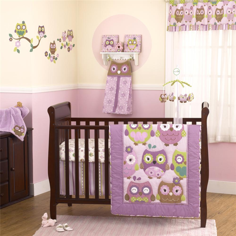 Purple Owl Baby Quilt