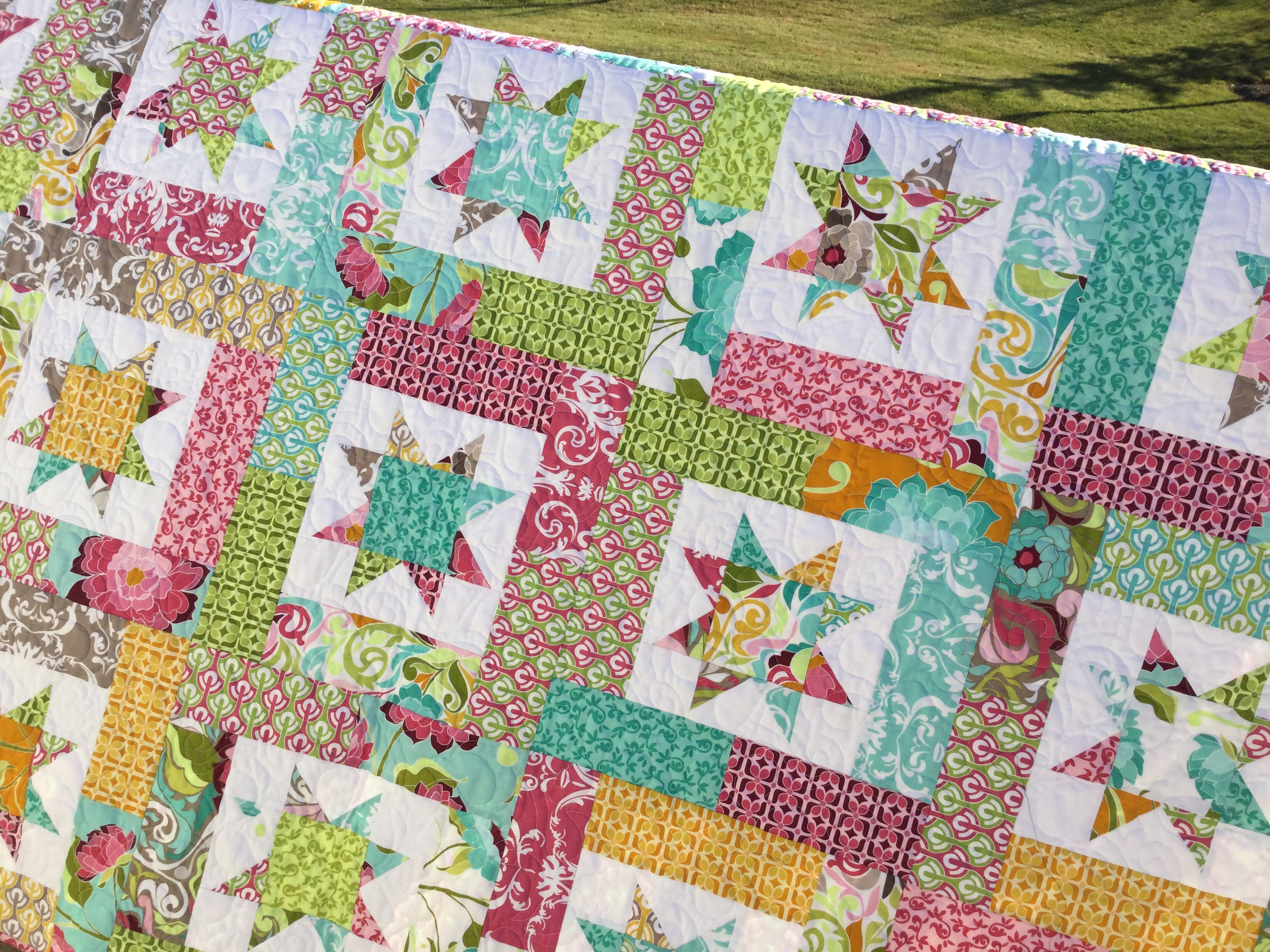Image of: Quick and Easy Strip Quilt Patterns