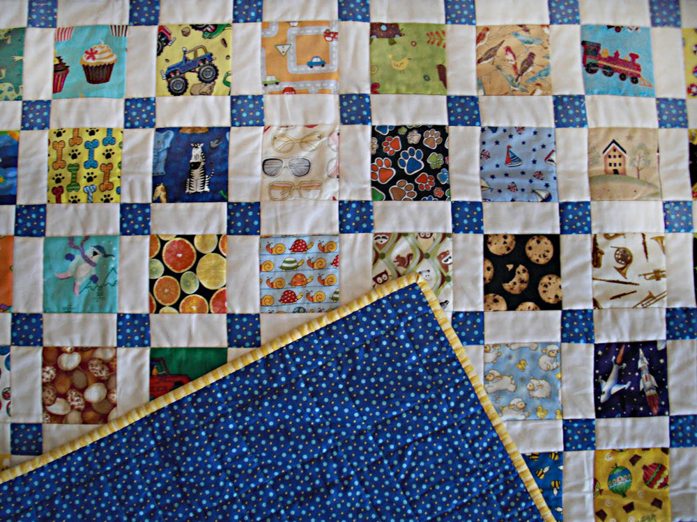 Image of: Quilt Square Patterns Blue