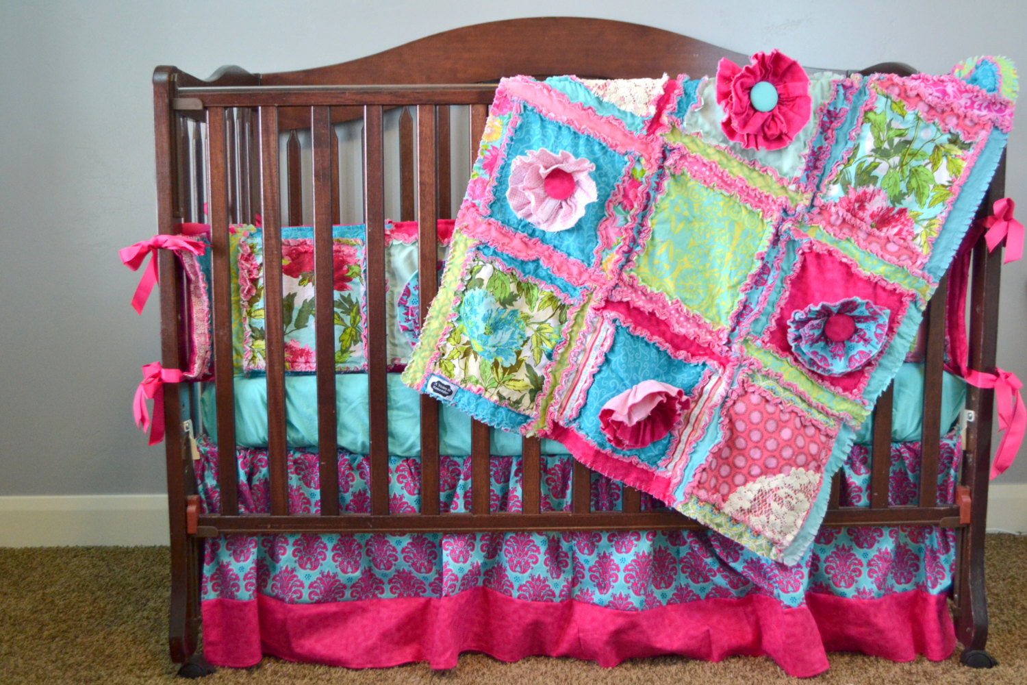 Image of: Quilted Baby Blanket Flower