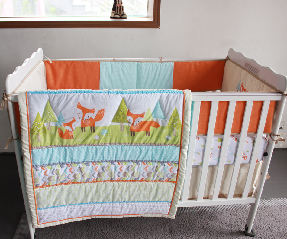 Image of: Quilted Baby Blanket Fox