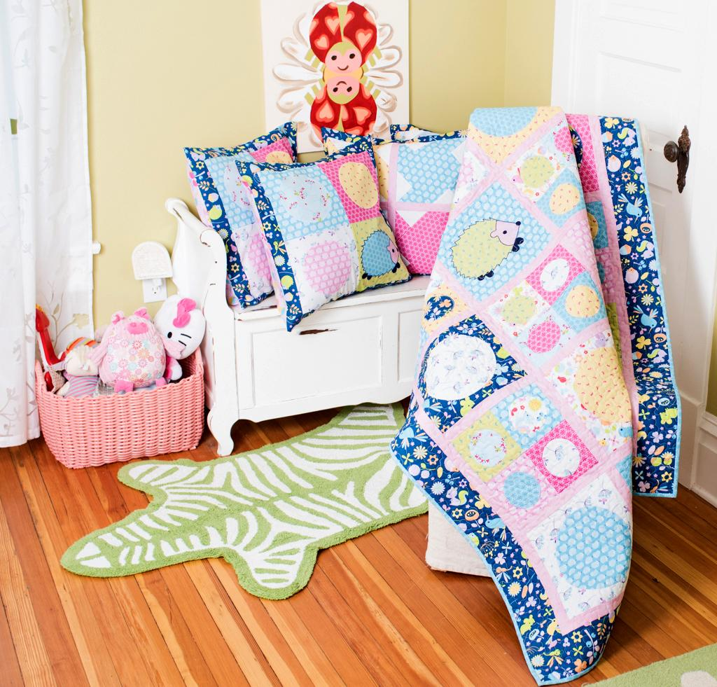 Image of: Quilted Baby Blanket Kits