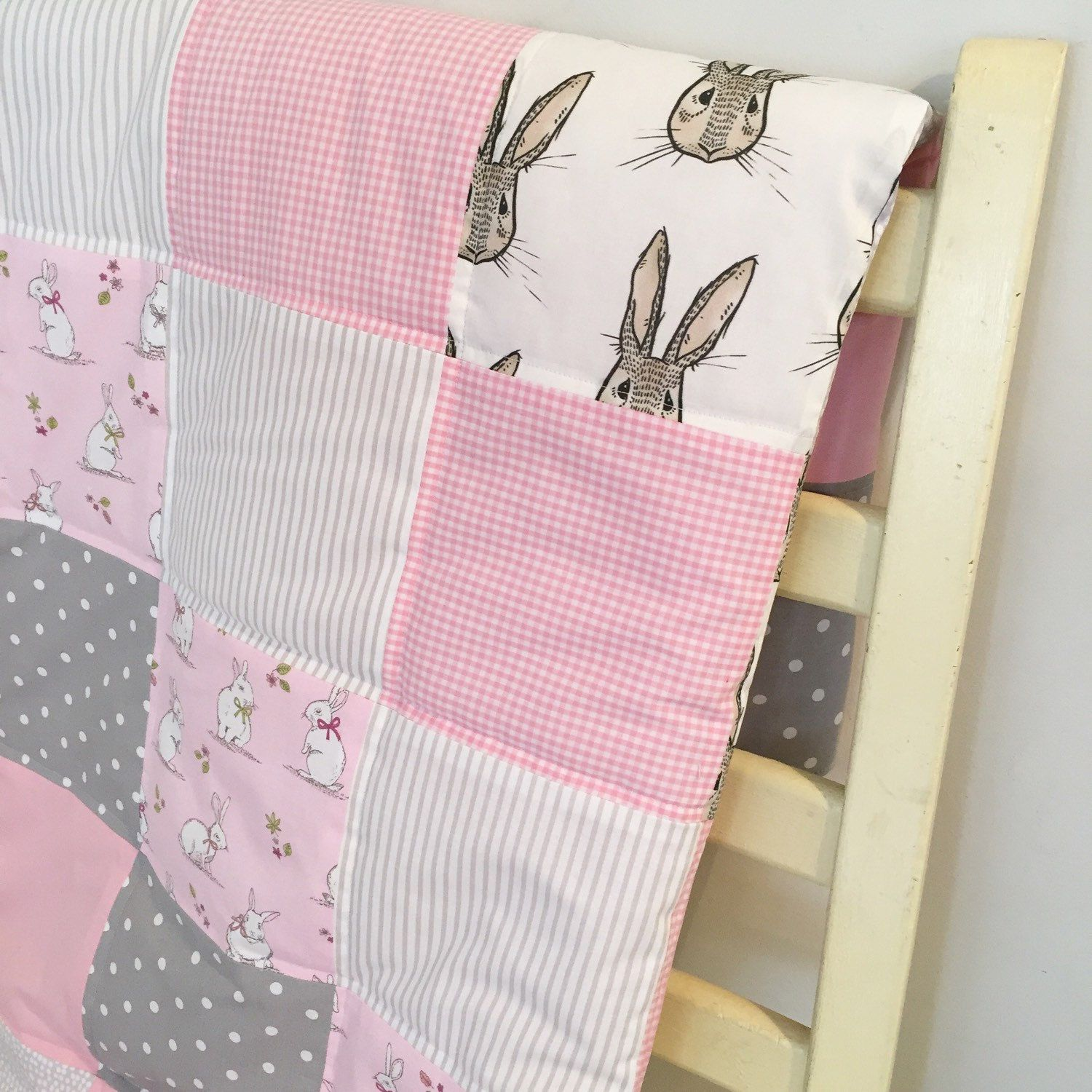 Image of: Quilted Baby Blanket Rabit