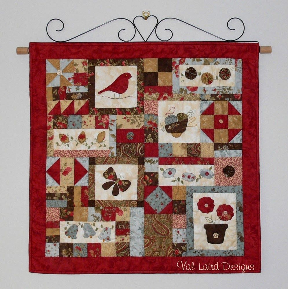 Picture of: Quilted Wall Hanging Patterns Red