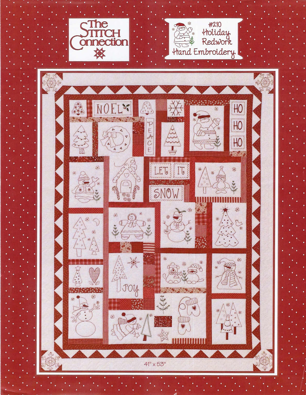 Redwork Embroidery Quilt Patterns