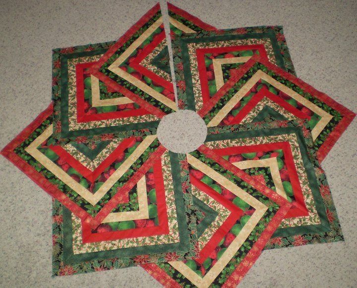 Review Christmas Tree Skirt Quilt Patterns