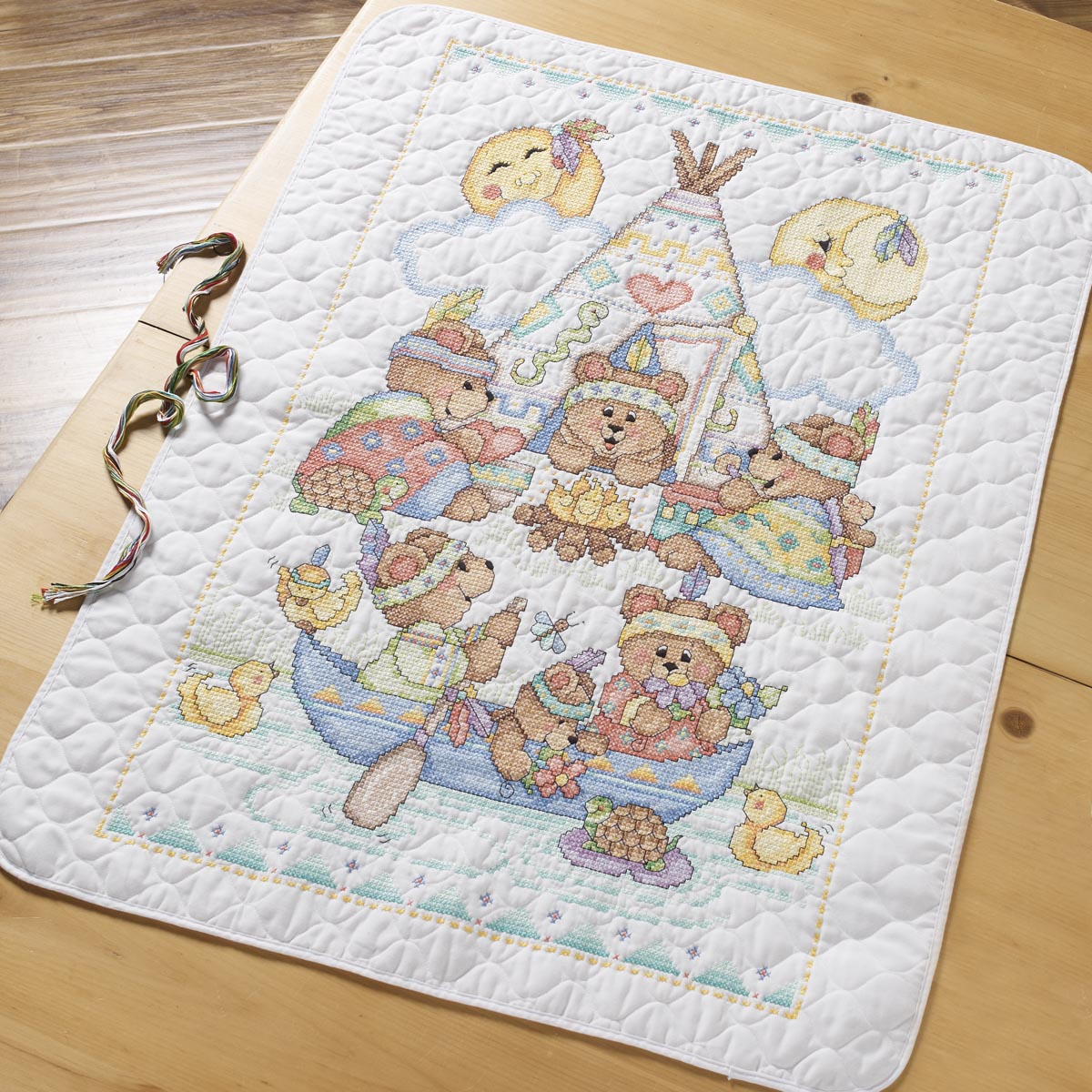 Image of: Shop Cross Stitch Baby Quilt Kits