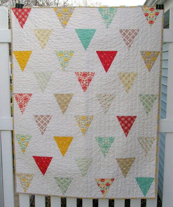 Image of: Simple Baby Patchwork Quilt
