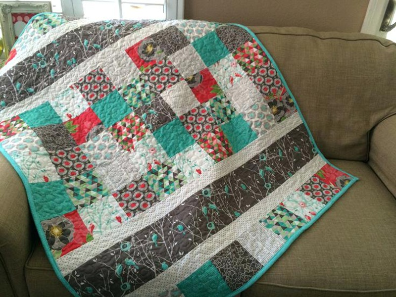 Image of: Simple Modern Baby Quilt Patterns For Boys