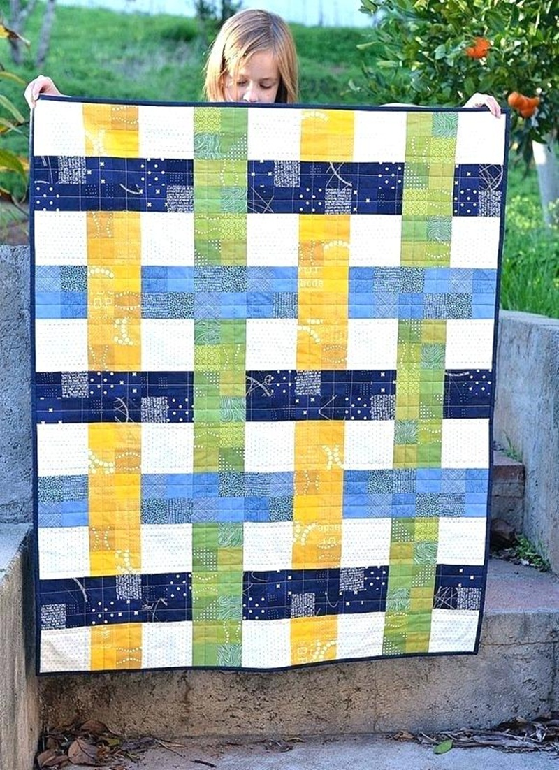 Image of: Simple Modern Baby Quilt Patterns