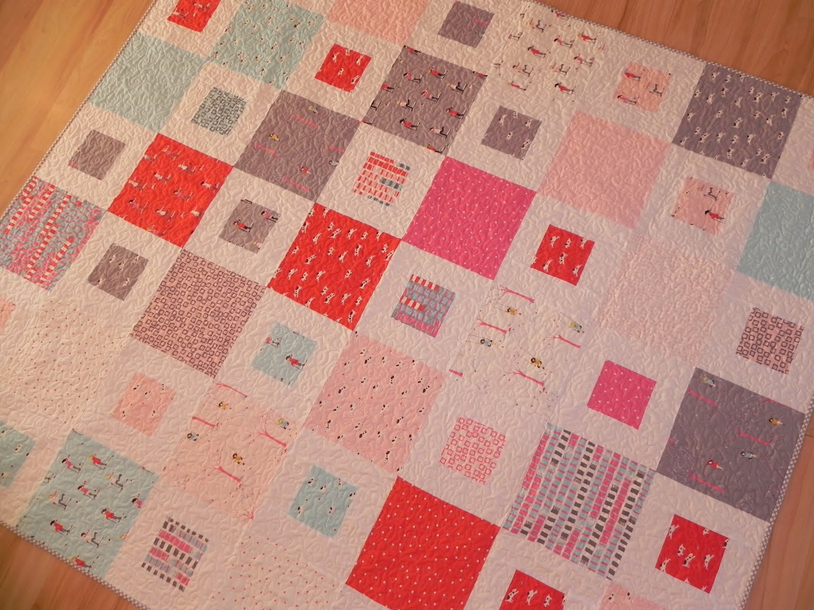 Picture of: Simple Quilt Patterns Pink
