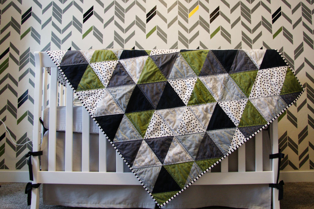 Image of: Simple Triangle Quilt Patterns