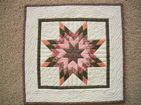 Image of: Small Lone Star Quilt Pattern
