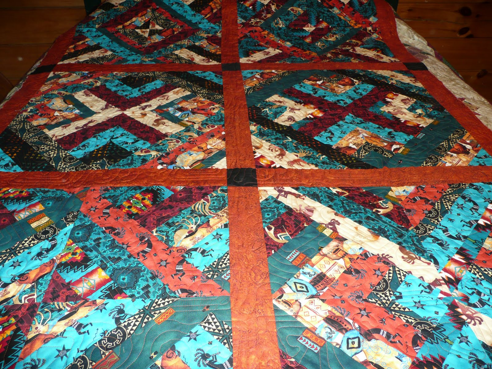 Image of: Southwest Quilt Patterns Ideas