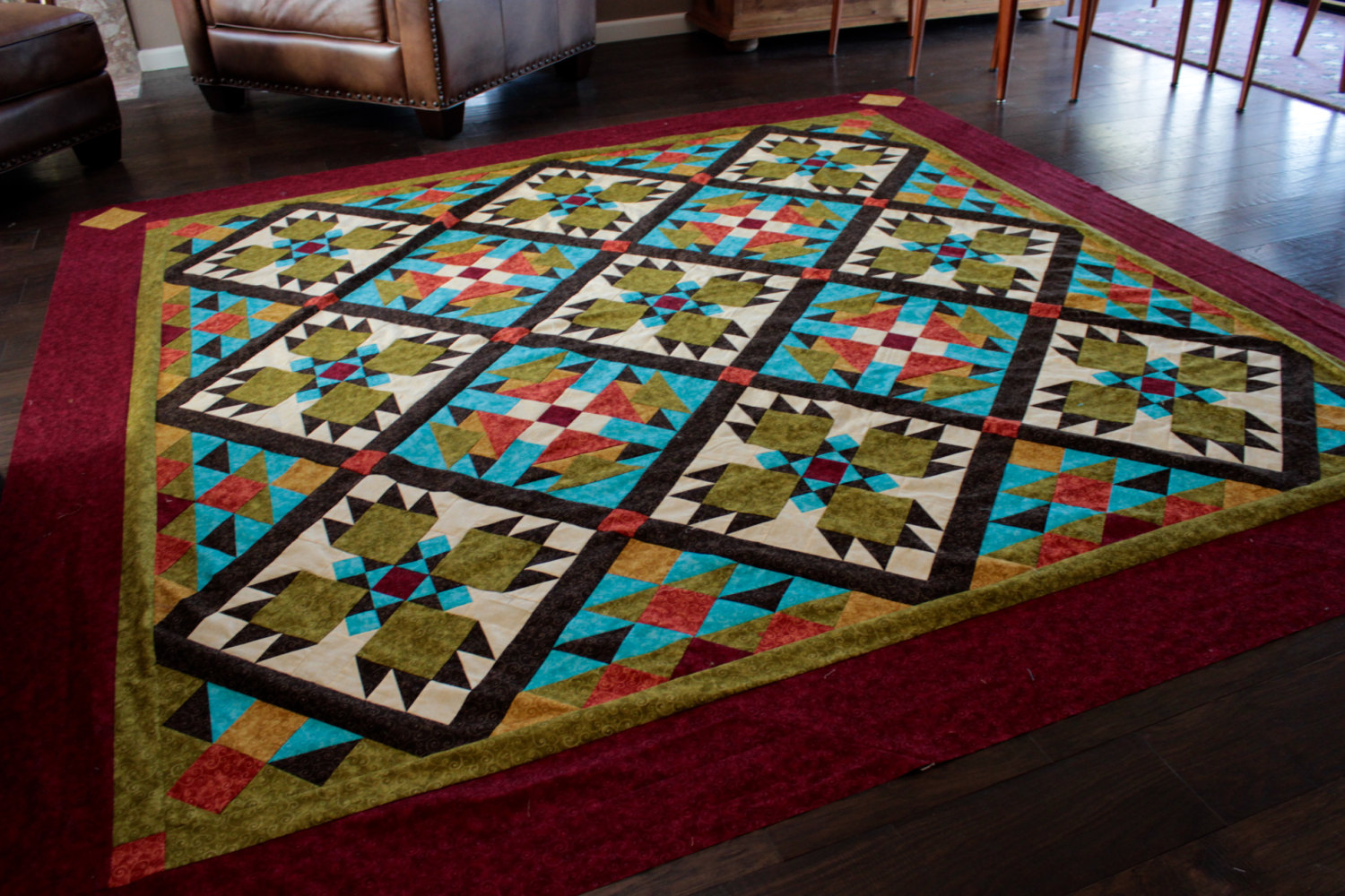 Image of: Southwest Quilt Patterns Popular